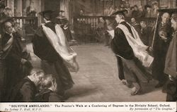 """SOLVITUR AMBULANDO"" The proctor's Walk at a Conferring of Degrees in the Divinity School, Oxford Postcard"