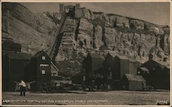 East Hill Lift and Fishermen's Church and Net Shops Postcard