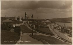 The Slopes of Plymouth Hoe Promenade, Lighthouse Postcard