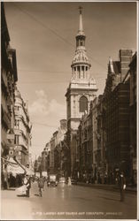 London Bow Church and Cheapside Postcard
