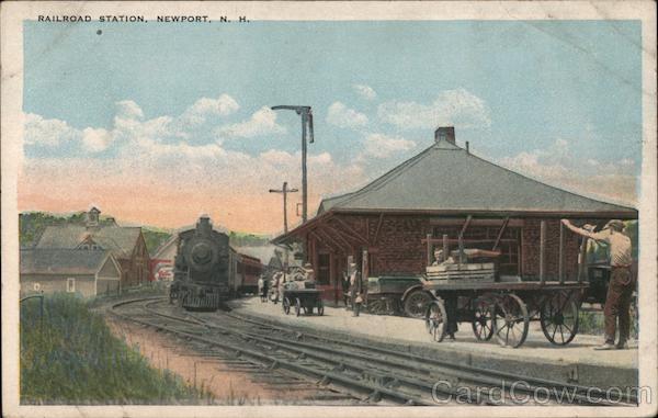 Railroad Station Newport New Hampshire