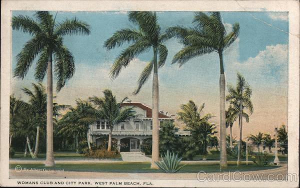 Womans Club and City Park West Palm Beach Florida