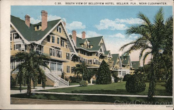 South View of Belleview Hotel Bellair Florida