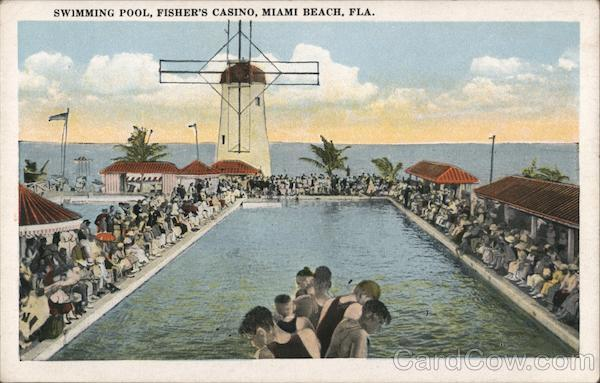 Swimming Pool, Fisher's Casino Miami Beach Florida