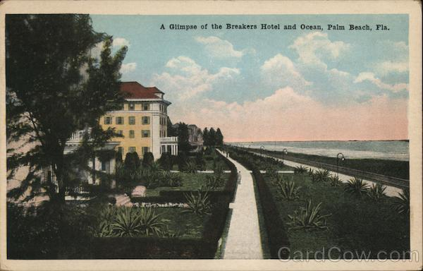A Glimpse of the Breakers Hotel and Ocean Palm Beach Florida