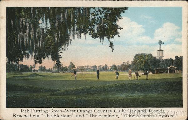 18th Putting Green - West Orange Country Club Oakland Florida