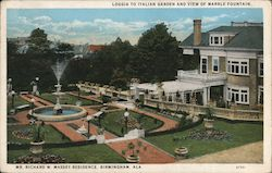 Loggia to Italian Garden and View of Marble Fountain