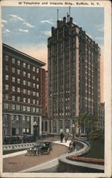 Telephone and Iroquois Building Postcard