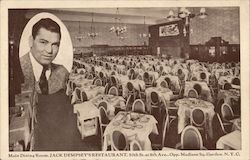 Main Dining Room, Jack Dempsey's Restaurant Postcard