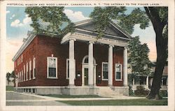Historical Museum and Wood Library Postcard