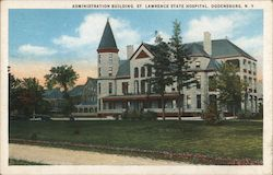 Administration Building, St. Lawrence State Hospital Postcard