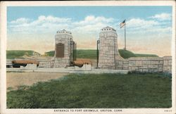 Entrance to Fort Griswold Postcard