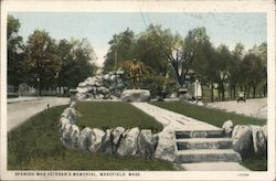 Spanish War Veteran's Memorial Postcard