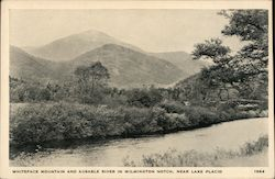 Whiteface Mountain and Ausable River in Wilmington Notch