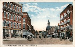Main Street, North from City Hall Postcard