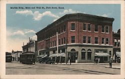 Marble Bldg, Main and Well St. Postcard