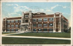 New Roosevelt Junior High School Postcard