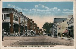 Main Street Showing Cooper's Two Drug Stores