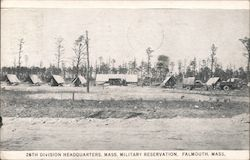 26th Division Headquarters, Mass. Military Reservation Postcard