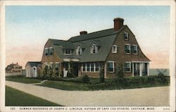 Summer Residence of Joseph C. Lincoln, Author of Cape Cod Stories Postcard
