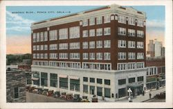 Masonic Bldg. Postcard