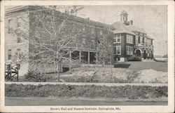 Brown Hall and Nasson Institute Postcard