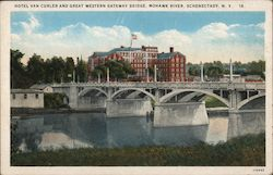 Hotel Van Curler and Great Western Gateway Bridge Postcard