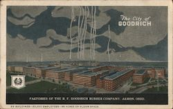 Factories of the B.F. Goodrich Rubber Company Postcard