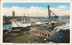 Fore River Plant, Bethlehem Shipbuilding Corporation Postcard