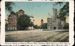 Worcester Society of Antiquity Womens' Club, Salisbury Street School and State Armory, Grove Street