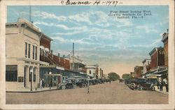 First Street looking West, showing Seminole Co. Bank