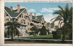 South View of Belleview Hotel Postcard