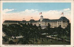 Front View of Royal Poinciana Hotel and Grounds Postcard