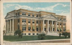 Palm Beach County Court House Postcard