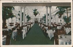 Dining Room, Royal Poinciana Hotel Postcard