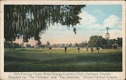 18th Putting Green - West Orange Country Club Postcard