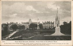 Royal Naval Barracks, Front View of the Officers' Block Postcard