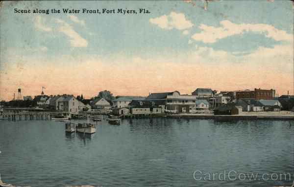 Scene Along the Water Front Fort Myers Florida