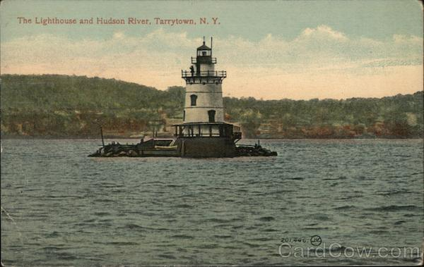 The Lighthouse and Hudson River Tarrytown New York