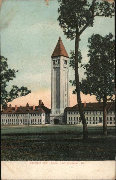 Barracks and Tower Fort Sheridan Illinois