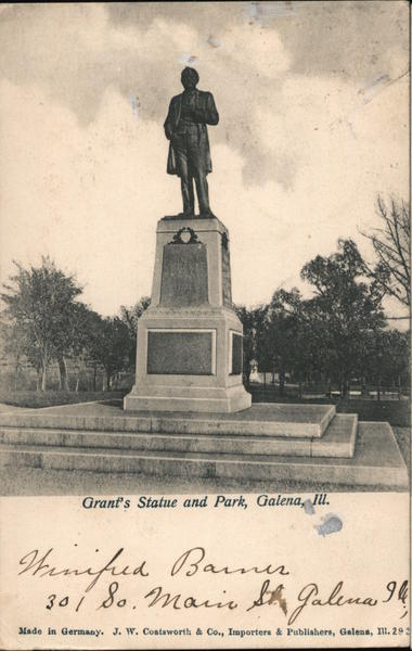 Grant's Statue and Park Galena Illinois
