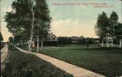 Cottages at Saranac Inn Upper Saranac Lake Postcard