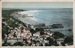 Birds Eye View of Provincetown Showing Pier
