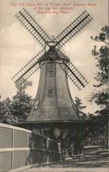 """The Old Dutch Mill"" at ""Crow's Nest"" Summer Home of the Late Joe Jefferson Postcard"