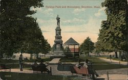 Perkins Park and Monument Postcard