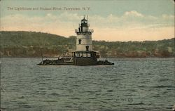 The Lighthouse and Hudson River Postcard
