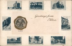 Greetings from Alton Postcard