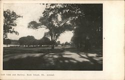 Golf Link and Battery, Rock Island Arsenal Postcard