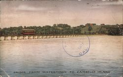Bridge from Watertown to Cambell's Island Postcard