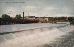 Dam On Fox River Postcard